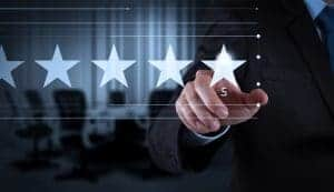 Review stars and reputation management