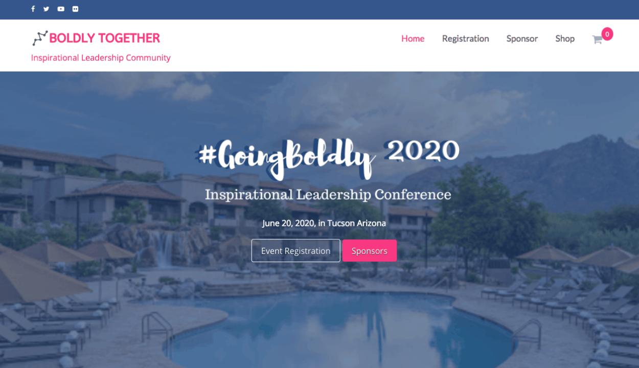 Boldly Together website screenshot