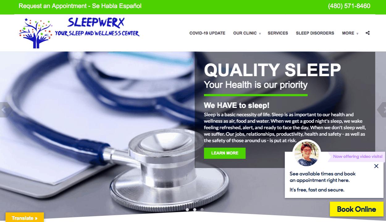 SleepWerx website screenshot