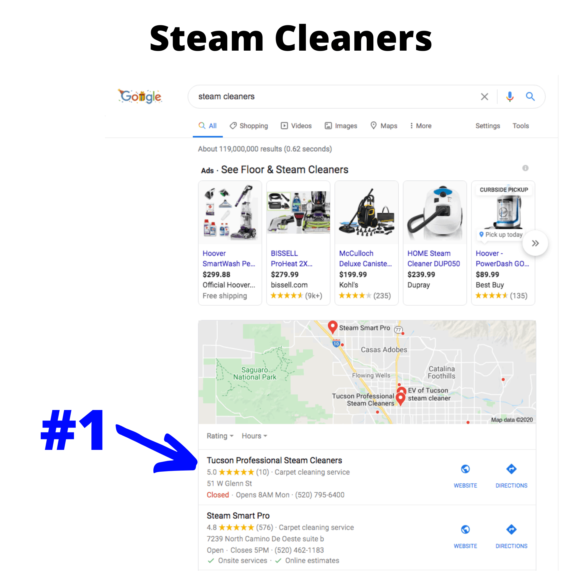 Steam Cleaners search results
